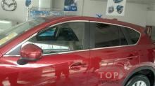 Молдинги на окна MAZDA CX5из нержавеющей стали, полный комплект периметра стекол.