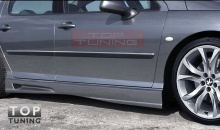 Накладки на пороги из обвеса Glider от ателье Auto R - Тюнинг Peugeot 407.