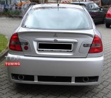 Тюнинг замена заводскому бамперу, от производителя компании Кластер, версия Симпл. Тюнинг Митсубиши Харизма 1 поколения (кузов седан).