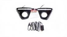 Новинка! Светодиодные ходовые огни Эпистар ЛЕД от производителя, модель выполненная в черном цвете для Мазда СХ5