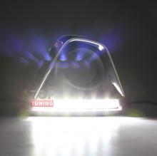 Новинка 2013 года! Гибридные светодиодные ходовые огни черного цвета с имитацией сот и хромированным молдингом для Мазда СХ5.