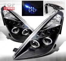 Альтернативная передняя оптика - Тюнинг Тойота Целика СТ230. Модель LED, Тип 1 - Черный цвет.