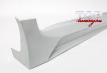 4371 Накладки на пороги - обвес JSW на Kia Sportage 3 (III)