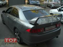Упрощенная версия козырька на заднее стекло - тюнинг Хонда Аккорд 7.