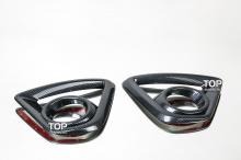 4426 Накладки на передние противотуманные фары Guardian Карбон на Mazda CX-5