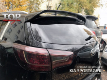 Спойлер С30 на крышку багажника - Тюнинг Kia Sportage 3 (оригинал). АБС пластик. Производство Тайвань.
