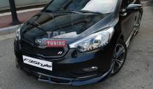 Накладка на передний бампер  «Free Style» для автомобилей Киа Церато K3