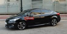 Комплект боковых порогов  «Free Style» для автомобилей Киа Церато K3