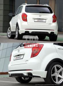 Тюнинг - Накладка на задний бампер Zest на Ssang Yong Actyon
