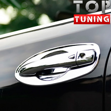 Накладки в лунки дверных ручек TECH Design Chrome на Nissan X-Trail