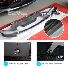 Накладка на передний бампер TECH Design 4sport