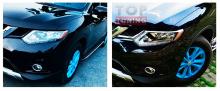 Накладки на передние фары TECH Design для Nissan X-Trail