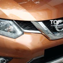 Накладки на решетку радиатора TECH Design на Nissan X-Trail Т32 Новый кузов 2014+