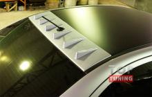 Козырек широкий EVO-Style 6 зубьев на крышу Митсубиси Лансер 10.