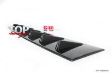 4585 Козырек широкий на крышу EVO 6 Зубьев на Mitsubishi Lancer 10 (X)