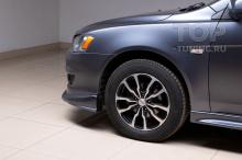 4586 Юбка на передний бампер Zodiac ABS (ДОРЕСТАЙЛИНГ) на Mitsubishi Lancer 10 (X)