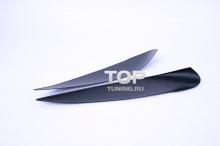Реснички - накладки на передние фары Evo v1 - Тюнинг Митсубиси Лансер 9