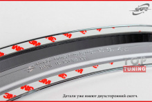 Стайлинг Киа Серато 3 - накладки на колесные арки - комплект 8 штук - от компании Safe