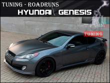 Тюнинг - Накладка на передний бампер RoadRuns Lightning на Хендай Генезис Купе (рестайлинг)