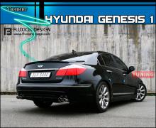 Тюнинг - Спойлер на крышку багажника от компании Fluxion Design на Хендай Генесис 1