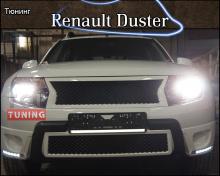 Тюнинг - Решетка в передний бампер на Рено Дастер 1