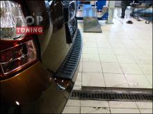 Защитная накладка на задний бампер на Рено Дастер 1