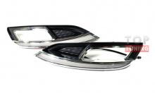 Тюнинг оптики Киа Серато 3 - светодиодные дневные ходовые огни.