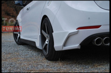 Тюнинг - Накладки (Клыки) на задний бампер Zest для Хендай Элантра 5 (Аванте МД) рестайлинг.