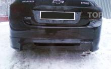 4746 Юбка заднего бампера Xemo на Chevrolet Cruze 2