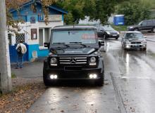 Тюнинг Мерседес G-Class - Юбка переднего бампера Brabus