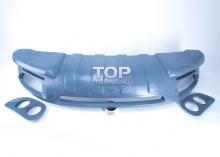 Тюнинг накладка на передний бампер Обвес Je Design Рестайлинг на VW Touareg I