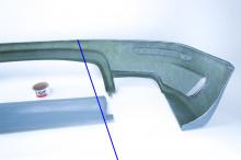 Накладка на задний бампер Тюнинг обвес Je Design на VW Touareg I