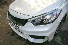 Передний бампер подходит на Cerato (K3) в кузове Koup и седан.