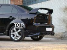 4984 Накладка на задний бампер ZODIAK FIBER на Mitsubishi Lancer 10 (X)