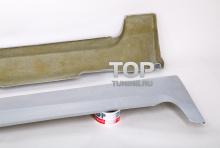 Пороги - Обвес ST - Тюнинг Форд Фокус 2  Материал: FIBER (стеклопластик)