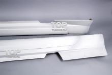 Накладки на пороги - Обвес Элеанор - Тюнинг Форд Мустанг (5 поколения)