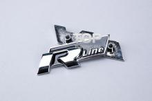 5056 Эмблема в решетку радиатора R Line 95x38 Хром на VW