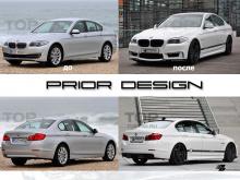 5087 Передний бампер Prior Design R на BMW 5 F10
