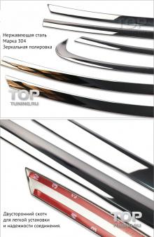 Молдинги окон из нержавеющей стали - нижняя линия, для Мазда СХ5. Комплект из 4-х элементов.