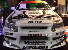 Набор наклеек на кузов автомобиля  - полный набор Blitz на Nissan Skyline R-34