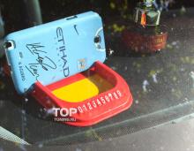Нескользящая панель для телефона с встроенной табличкой Если моя машина Вам мешает.