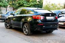 5280 Накладки на задний бампер Performance Max на BMW X6 E71