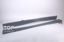 Накладки на пороги - Обвес РИГЕР - Тюнинг Ауди А4 Б5 (дорестайлинг)