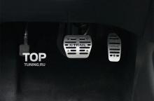 Тюнинг салона Ниссан X-Trail Т32 - Алюминиевые накладки на педали с надписью X-Trail от компании TECH Design.