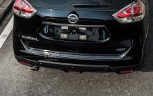 Тюнинг Nissan X-Trail -  Защитная пластина заднего бампера TECH Design Deluxe.
