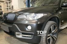 Реснички на переднюю оптику - Модель GT3 (ABS) - Тюнинг БМВ Х5 (е70)