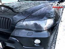 Реснички GT-III на переднюю оптику Тюнинг БМВ Х5 (е70) 2006-2013 ABS ПЛАСТИК / ПАРА / ПОД ОКРАСКУ