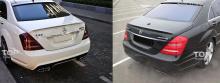 Лип-спойлер на крышку багажника для Мерседес W221.