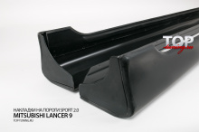 5540 Накладки на пороги Штатные на Mitsubishi Lancer 9 (IX)