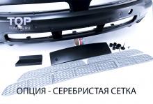 Тюнинг БМВ Х5 Е53 (Рестайлинг) - Передний бампер 4.8is. Версия с серебряной сеткой.